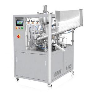 प्रचंड कंपनसंख्या असलेल्या (ध्वनिलहरी) सीलिंग कॉस्मेटिक ट्यूब फिलिंग मशीन