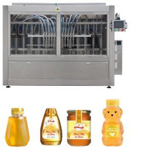 स्वयंचलित सर्वो पिस्टन प्रकार सॉस मध जाम उच्च व्हिस्कोसिटी लिक्विड फिलिंग कॅपिंग लेबलिंग मशीन लाइन
