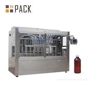 स्वयंचलित पाककला तेल भरणे मशीन सॉस जाम मध कॅपिंग मशीन भरत आहे